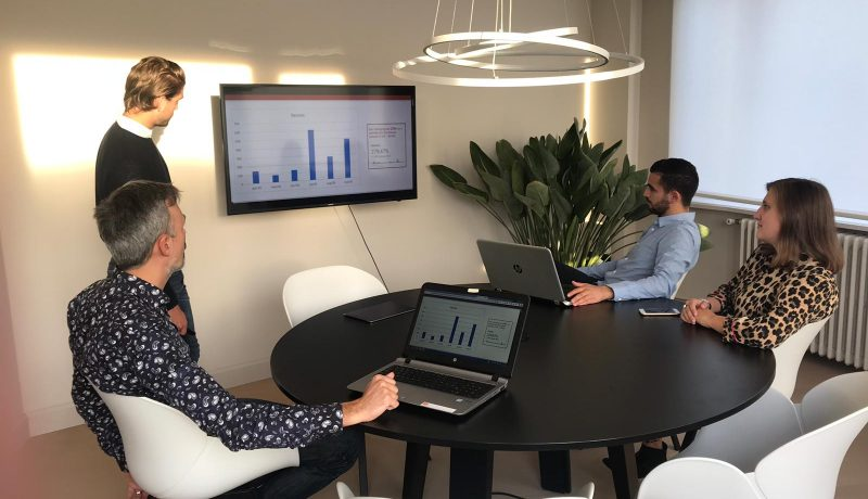 Team meeting in een digital marketing agency